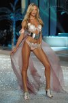walks the runaway at the 2008 Victoria's Secret Fashion Show at the Fontainebleau Hotel on November 15, 2008 in Miami Beach, Florida.